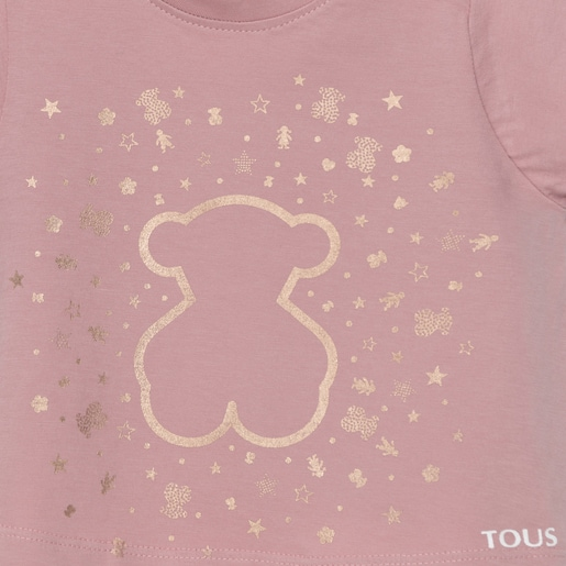 Camiseta Casual Rosa