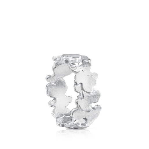 Silver TOUS Hill Ring Bear motif 0,9cm.