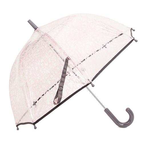 Paraguas transparente Kaos Rosa