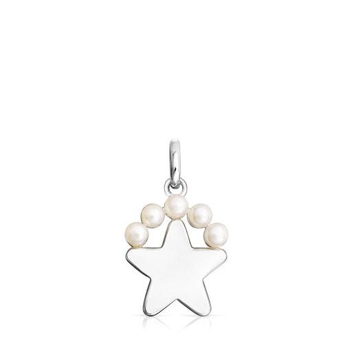 Colgante Real Sisy estrella de Plata y Perlas