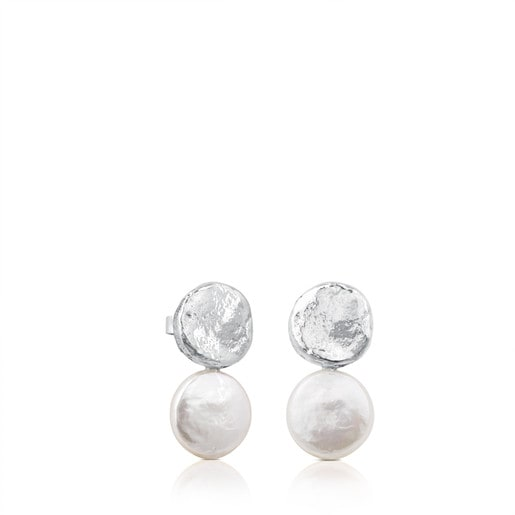 Silver Duna Earrings with Pearl
