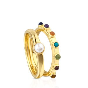 Anillo Super Power de Plata Vermeil con Gemas