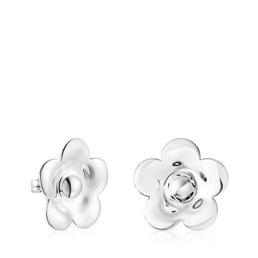 Aretes Fragile Nature flor de plata