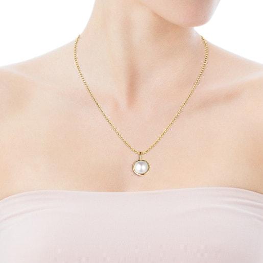 Colgante Avalon de Oro y Perla