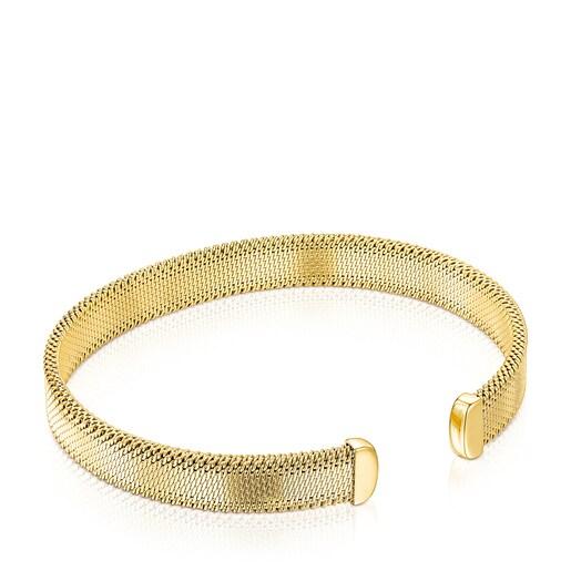 Gold-colored IP Steel Mesh Bracelet