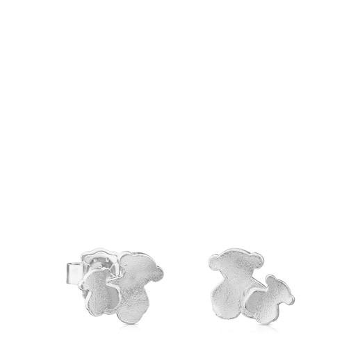 Silver TOUS Hill Earrings Bear motif 1cm.
