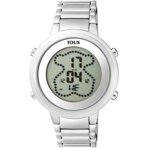 6969b90d3f4c Reloj digital Digibear de acero