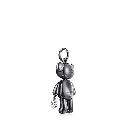 Medium Titanium Teddy Bear Pendant with Diamonds – Limited Edition