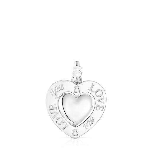 Pingente giratório coração em Prata San Valentín
