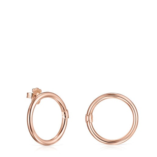Large Hold Ring in Rose Silver Vermeil