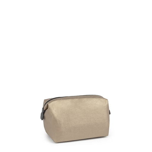 Large gold-colored Doromy Toiletry bag