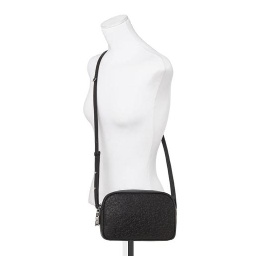Μικρή τσάντα Χιαστί Sira από Δέρμα σε μαύρο χρώμα