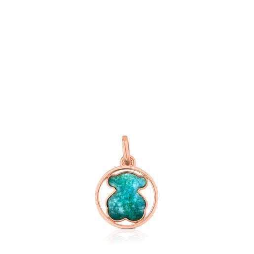 Rose Vermeil Silver Camille Pendant with Amazonite