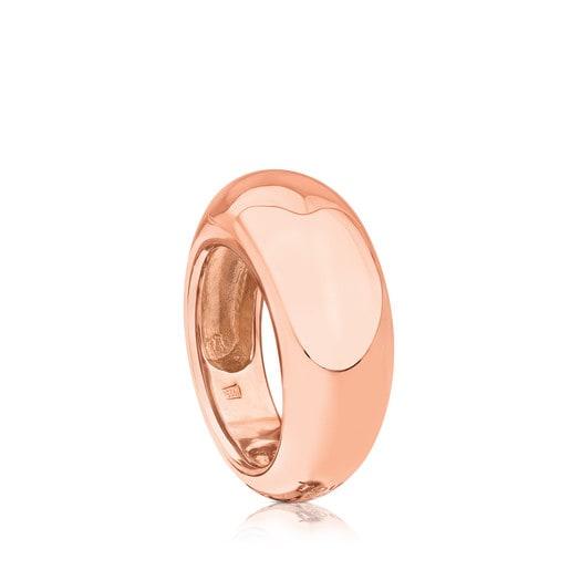 Rose Vermeil Silver TOUS Warm Ring 1cm.