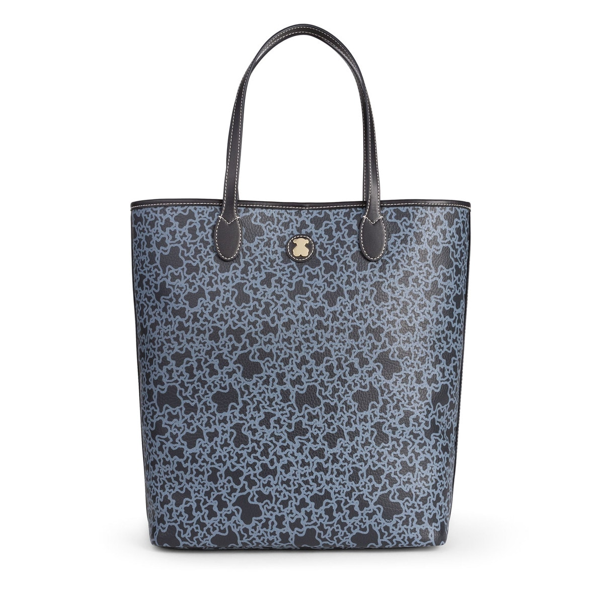 f5cf1830bf93 Large navy colored Canvas Kaos Mini Shopping bag - Tous Site GB