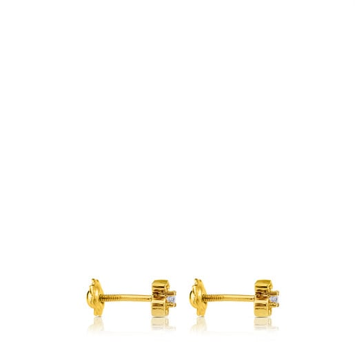 Gold Baby TOUS Earrings with Diamonds