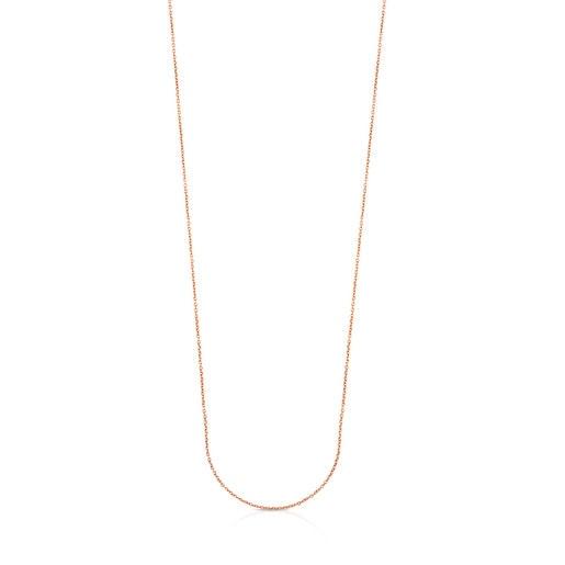 Cadena larga TOUS Chain de Plata vermeil rosa, 85cm.