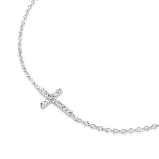 White Gold TOUS Cruz Bracelet with Diamond
