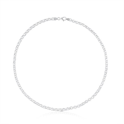 45 cm Silver TOUS Chain Choker with round rings.