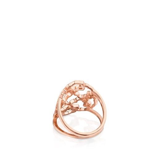 Rose Vermeil Silver Mossaic Power Ring