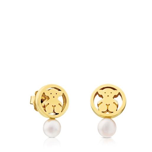 Boucles d'oreilles Camille en Or avec Perle.