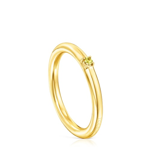 Silver Vermeil and yellow Sapphire Ring Mix Ring