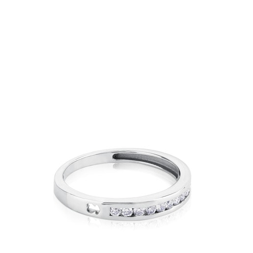 White Gold TOUS Les Classiques Ring with Diamonds 0,18ct