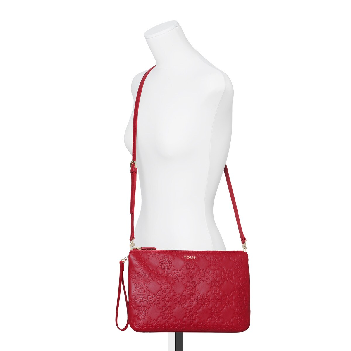 a4a421e457 Τσάντα χιαστί μεγάλου μεγέθους Mossaic από Δέρμα σε κόκκινο χρώμα ...