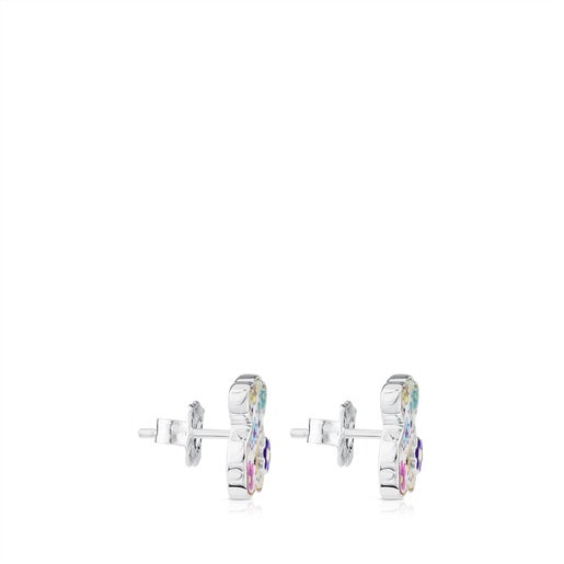 Silver Sugar Earrings with Mother-of-Pearl