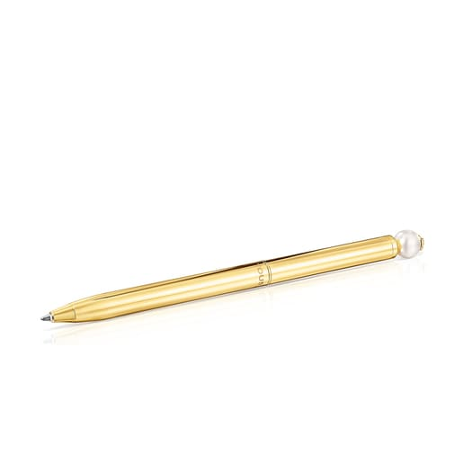 Goldfarbener Kugelschreiber Icon Pearl