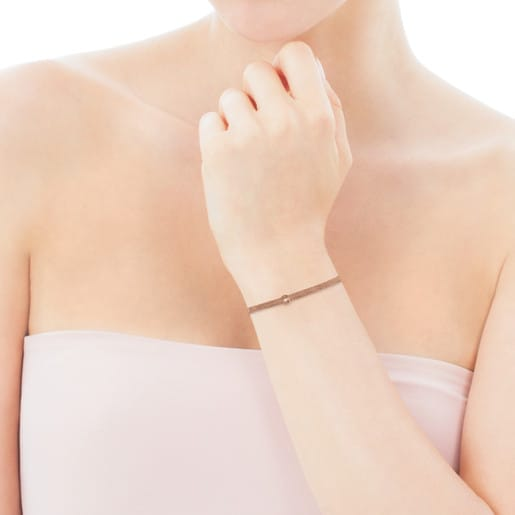 Bracelet Real Sisy en Or Vermeil rose avec Perle