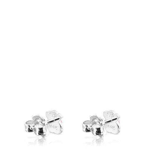 Boucles d'oreilles TOUS Color en Argent avec Quartzite rose