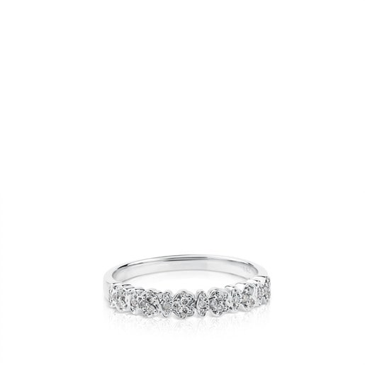 Anillo Fancy de Oro blanco con Diamantes