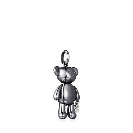 Mittelgroßer Teddy Bear Anhänger aus Titan mit Diamanten– Limitierte Auflage