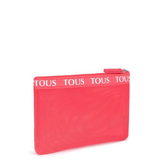 Medium Fluorescent Pink T Colors Toiletry Bag