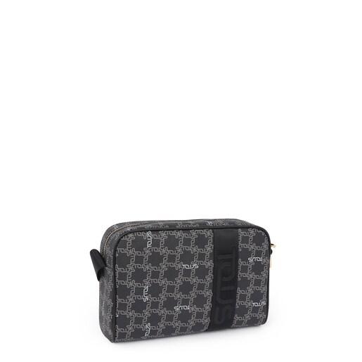 Medium black Tous Logogram crossbody bag