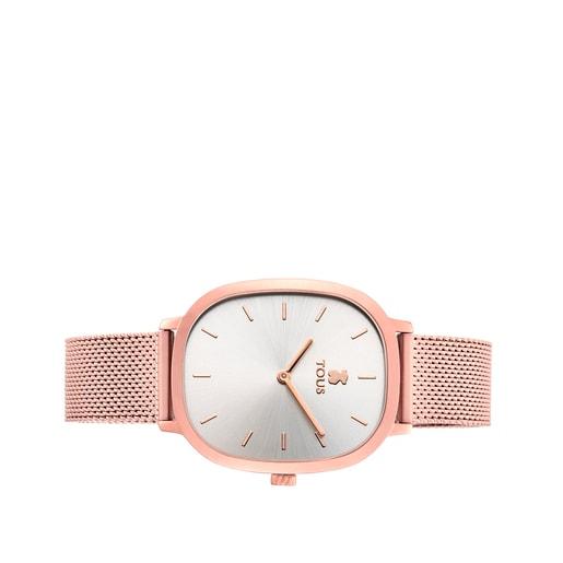 Reloj Heritage de acero IP rosado