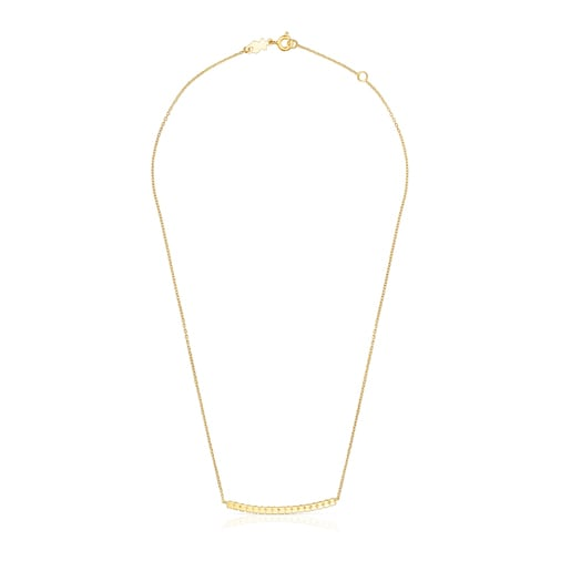 Silver vermeil Straight bar Necklace
