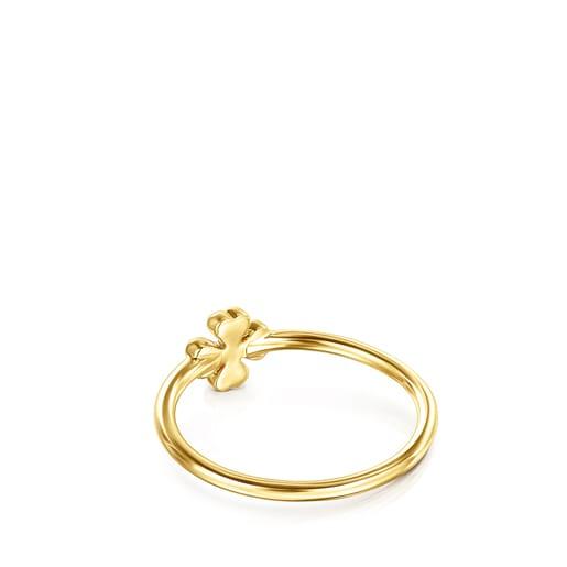Anillo TOUS Good Vibes trébol de oro y diamantes