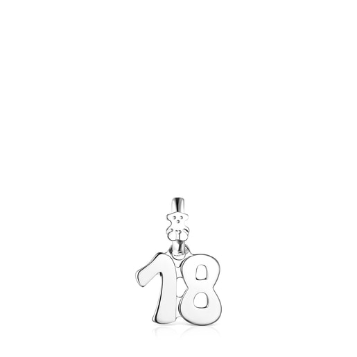 Silver Numbers number 18 Pendant