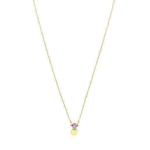 Collar corazón de oro con gemas Real Sisy