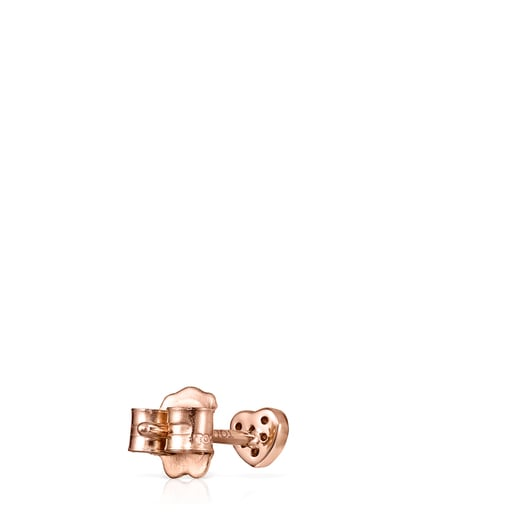 Rose Gold Les Classiques heart Earring with Diamonds