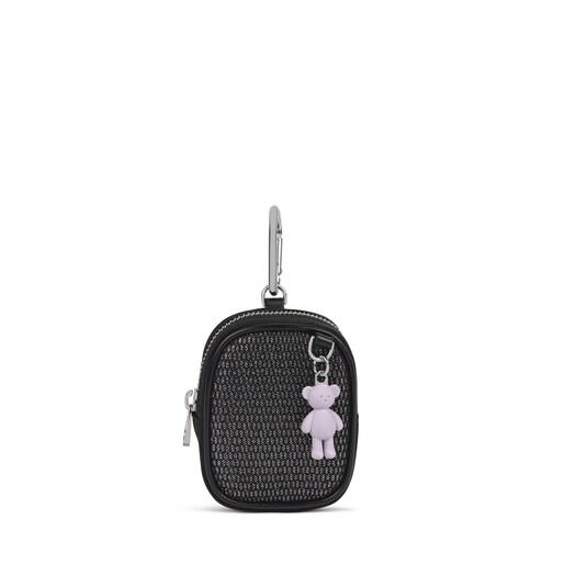 Small black and gray Ina purse