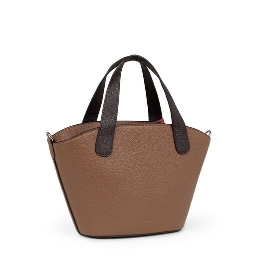 Small brown Leather Leissa Shopping bag