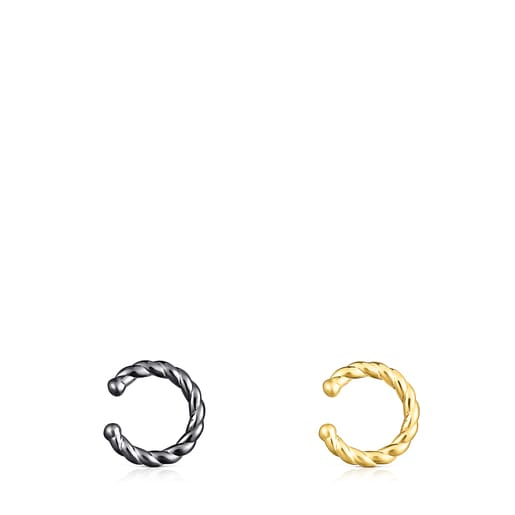 Silver Vermeil and Dark Silver Earcuff Braid Pack