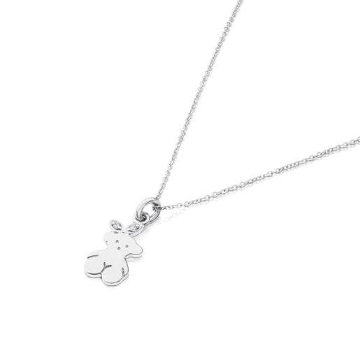 White Gold Twist Necklace