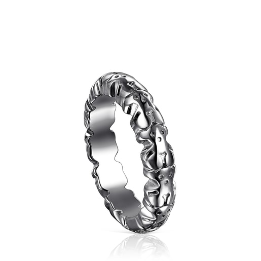 Anillo Straight XL de Plata dark silver