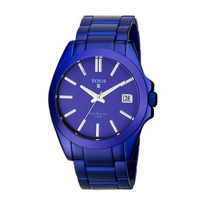 Blue anodized Aluminum Drive Watch