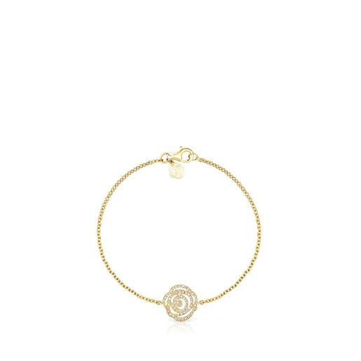 Braçalet ATELIER Rosa d'Abril d'Or amb Diamants