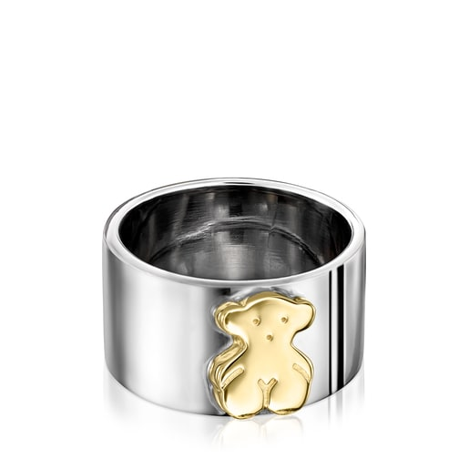 Sweet Dolls Ring in Dark Silver and Silver Vermeil